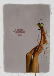 I Drink Therefore I Can by The Connor Brothers - Hand Embellished Limited Edition on Paper sized 12x16 inches. Available from Whitewall Galleries